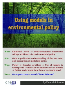 models in policy poster